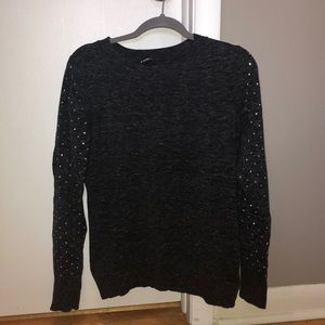 EXPRESS grey crew neck sweater